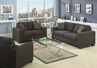 DELUXE FABRIC SOFA LOVESEAT AND CHAIR...BRAND NEW!!