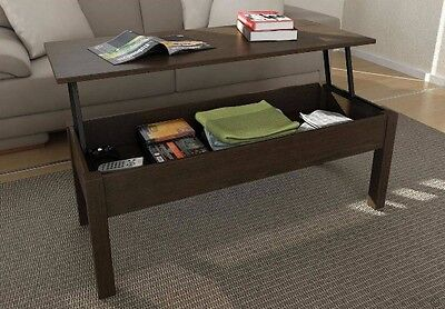 Table Coffee Wood Accent With Lift Top Mainstays Multiple Colors New