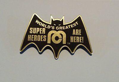 CUSTOM MEGO CORP. PROMO SALESPERSON PINBACK BADGE PROP BATMAN 1972 SUPER HEROES