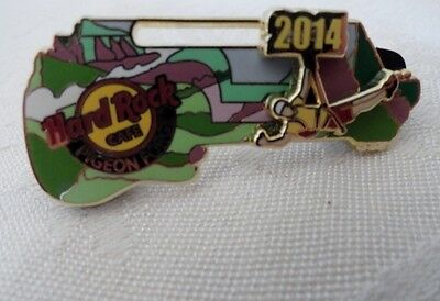 HARD ROCK 3D ZIP LINE PIN FROM PIGEON FORGE TENNESSEE - 2014 - NEW IN PACKAGE