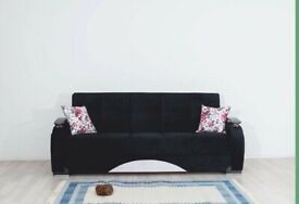 CLASSIC TURKISH SOFA BED GAMA IN BLACK COLOR