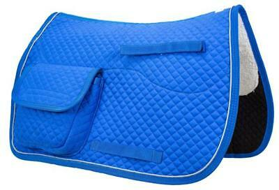 Derby Originals All Purpose Half Fleece-lined English Saddle Pad with Pockets All Purpose English Saddle Pad