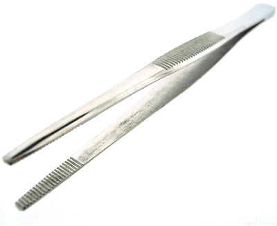 "12"" General Purpose Tweezers Stainless Steel w/ Blunt Tips US FAST FREE SHIPPING"