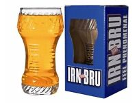 IRN BRU branded glasses