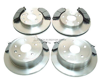 DAEWOO LEGANZA 1997 2003 ALL MODELS FRONT  REAR BRAKE DISCS AND PADS SET NEW