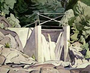 "A.J. Casson ""Old Country Dam"" Lithograph - Appraised at $700"