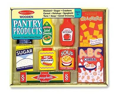Melissa and Doug Dry Goods Pantry Set  Wooden Play Food #4077  BRAND NEW