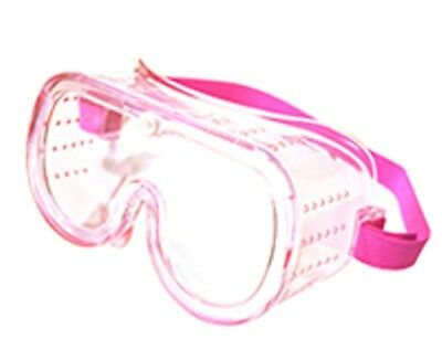 Lady Goggles - 1 Pink Small Eye Protection Protective Lab Clear Goggle Glasses Safety Lady Kid