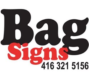 Lawn Bag Signs - $20 off for new customers
