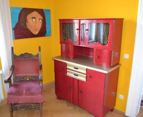 50er jahre k chenschrank ebay. Black Bedroom Furniture Sets. Home Design Ideas
