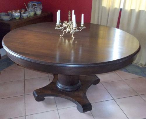 Antique mahogany dining table ebay for Dining room tables 1940s