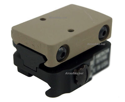 Quick Release Rail (In Tan) Toy RMR Sight Mount Adapter with 15mm Riser