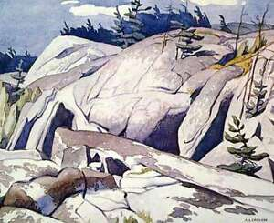 """""""Rock Study"""" Lithograph by A.J. Casson appraised at $650"""