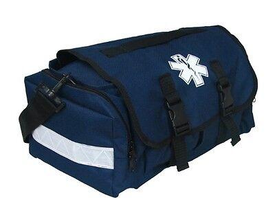 First Responder Ems Emt Paramedic Trauma Bag With Reflectors - Blue