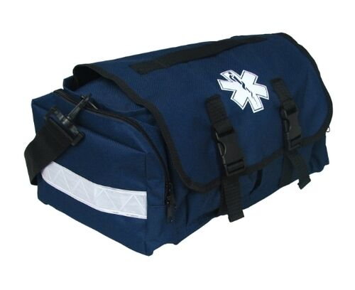 First Responder EMS EMT Paramedic Trauma Bag With Reflectors - Blue