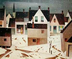 "A.J. Casson ""Late Flurry"" Lithograph - Appraised at $750"