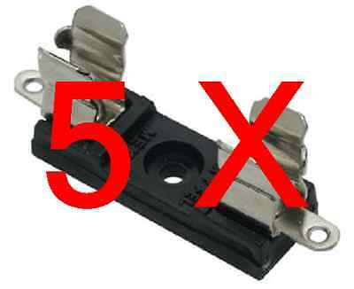 """Fuse holder / clip, US AGC  1/4"""" * 1.25"""" fuses, for Panel / PCB mount, Pack of 5"""