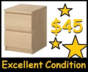 IKEA MALM --- 2-Drawer Dresser (Birch) --- $45 ONLY !!