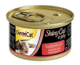 GimCat ShinyCat in Jelly Tuna With Salmon 24 x Cans 70g Wet Cat Food £7