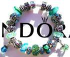 PANDORA Green Fashion Charm Bracelet with Charms Bracelets