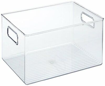 iDesign Storage Box with Handles, Extra Large Plastic Kitchen Organiser for