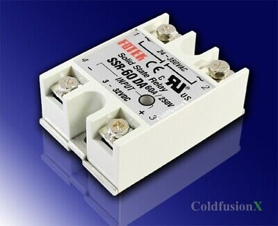 New 60a Ssr Solid State Relay 3-32v Dc 24-380v Ac