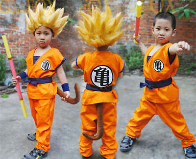 Halloween Party Anime Dragon Ball Goku Kids Cosplay Costume Suit Xmas Clothes - Goku Costume Kids