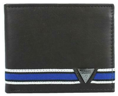 Guess Men's Leather Wallet Passcase Billfold Credit Card Id