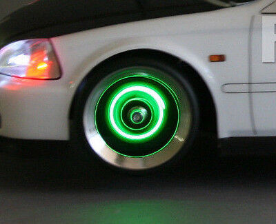 1/10 RC Car Drift LED WHEEL LIGHTS GREEN L.E.D Rotors Lights