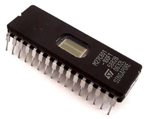 M27C801-100F1 8 MEG 1M X 8 EPROM IC 32 Pin STMicroelectronics NEW (12 pcs)