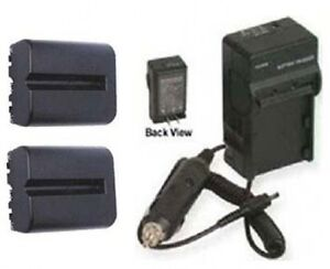 TWO-Batteries-Charger-for-Sony-SLTA77-SLTA77V-SLTA77VQ-SLTA77Q-SLTA65VL