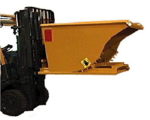"""Apex Lift Truck DUMP Hopper Heavy Duty 1 yd EZ Release Handle Self Dumping 3/16"""""""