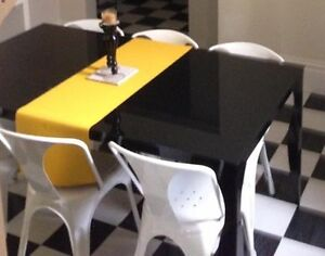 Designer black dining table Maroubra Eastern Suburbs Preview