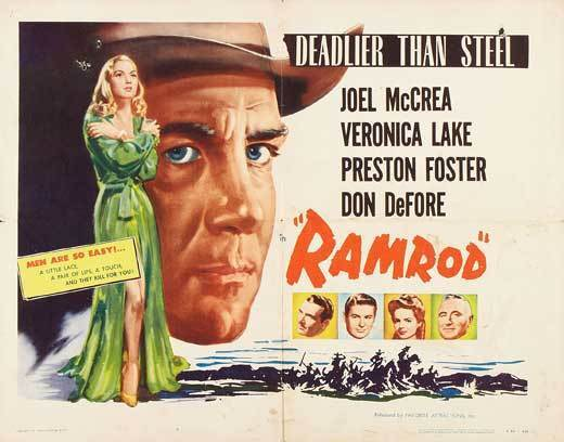 RAMROD Movie POSTER 22x28 Half Sheet Joel McCrea Veronica Lake Don DeFore Donald