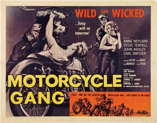 MOTORCYCLE GANG Movie POSTER 22x28 Half Sheet Steven Terrell Anne Neyland John