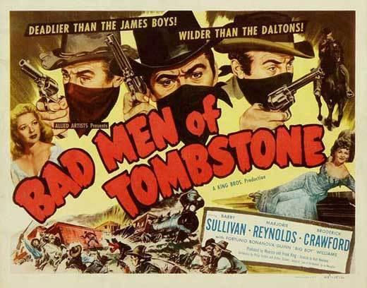 BAD MEN OF TOMBSTONE Movie POSTER 27x40 B Barry Sullivan Marjorie Reynolds