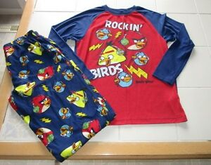 Boys 2pc Angry Birds long sleeve pajamas size M (10/12)
