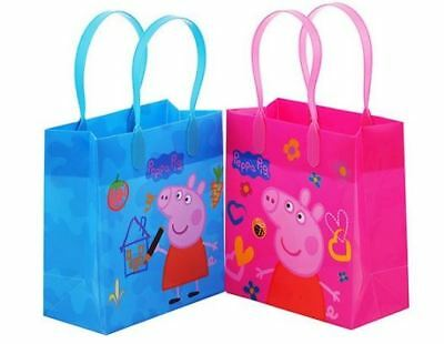 Peppa Pig Tattoo (12 PCS Peppa Pig Goodie Goody gift candy Loot Bags bag party favor & Temp)
