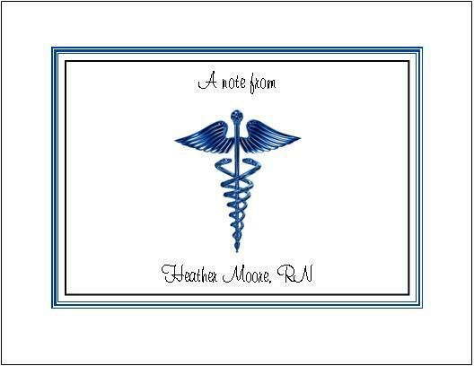Medical DR or RN Note or Thank You Cards Style #4