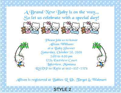 Hello Kitty Adorable Baby Shower - Hello Kitty Baby Shower Invitations
