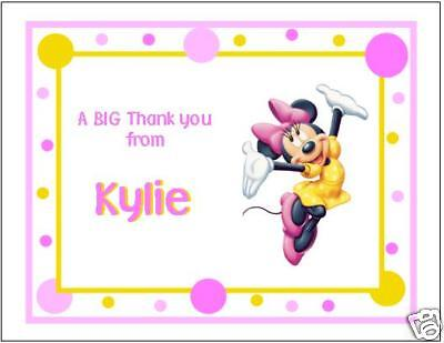 Happy Minnie Mouse Note/Thank You Cards](Minnie Mouse Thank You Cards)