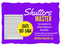 Shutters &Zebra Blinds Special sale