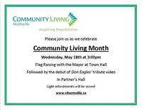"""Join us while we celebrate """"Community Living Month"""""""