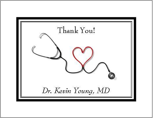 Medical DR or RN Note or Thank You Cards Style #1