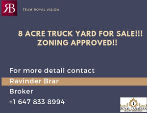 8 Acre Truck Yard For Sale!!!!