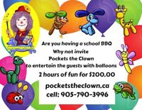 Are you looking for a balloonists for your school BBQ?