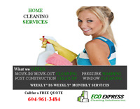 North Vancouver Move in /Move out Cleaning Services Book today