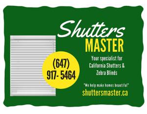 California Shtters Season sale
