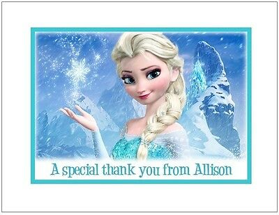 Frozen #5 ~ Personalized Note/Thank You - Frozen Thank You