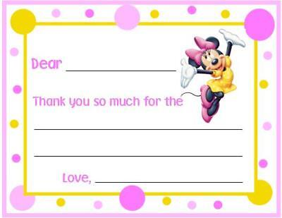 Minnie Mouse FILL IN ~ Custom Thank You or Note Cards](Minnie Mouse Thank You Cards)